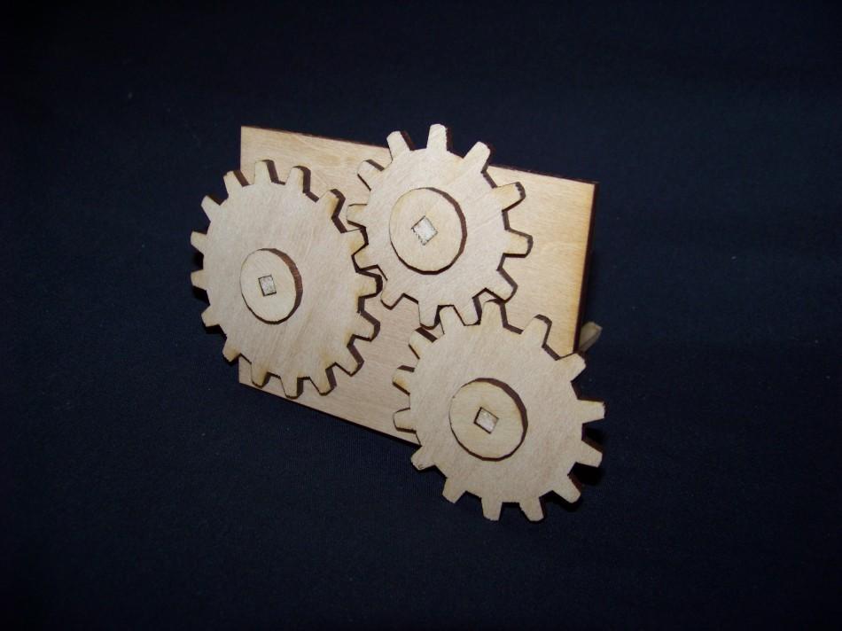 FlatCAD output: gears