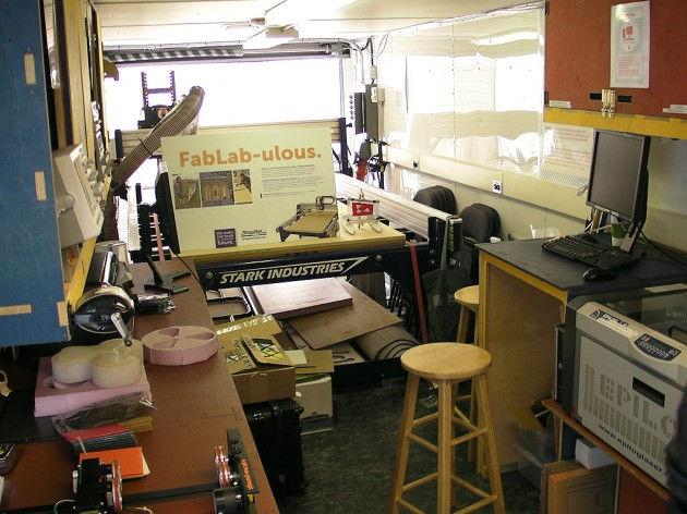 Inside the Mobile FabLab