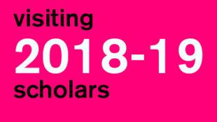 2018-2019 Visiting Scholars