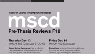 MSCD Pre-Thesis Final Reviews